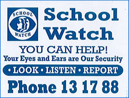 School Watch - You can help. Call 131788